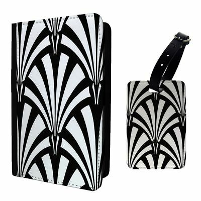 Art Deco Patterns White Cool Luggage Tag &/OR Passport Holder - T1946