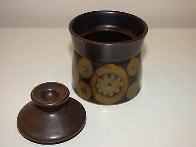 Denby 'Arabesque' Vintage Lidded Sugar/Jam Pot, Used