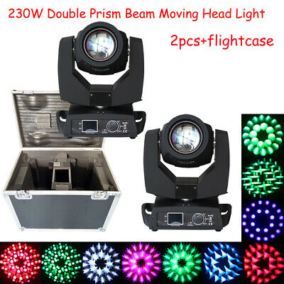 8+16 Prism RDM Power In Out 230W 7R sharp beam moving head light 2pcs/flycase US
