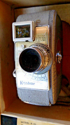 Vintage 8mm movie camera KEYSTONE hand crank. Excellent condition. Works well.