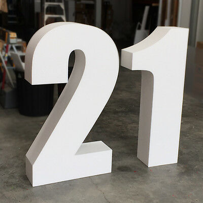 Number 21 (Twenty One) / 21st Birthday Freestanding Large Sign Letters 1.1m High