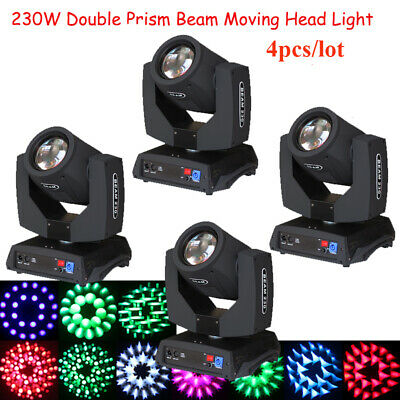 4pcs RDM Low Noise Power in and out 230W 7R sharp beam moving head light 8+16 US