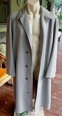 Vintage 50's/60's Pure Wool Overcoat Made in England : XL (112): excellent cond.