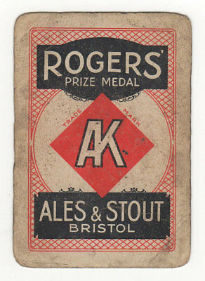 Single Playing Card For Rodgers Brewery Bristol