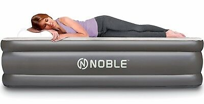 Queen Size airbed aerobed Premier Double High with Built-In Pump Air Mattress