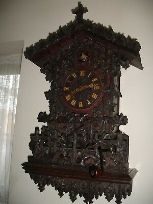 Beha 19Th Century Twin Fusee Cuckoo Clock With Matching Wall Bracket Utube Video