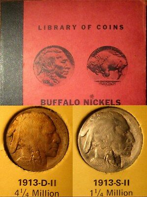 COMPLETE BUFFALO NICKEL SET (1913-1938) in a 'LIBRARY of COINS' ALBUM