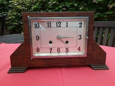 Haller movement Art Deco wooden case mantel clock,  retailed by Lloyd and...
