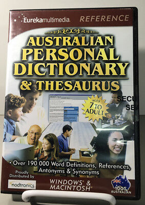 Reference Software - Australian Personal Dictionary & Thesaurus NEW SEALED