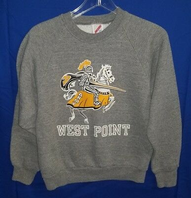 Vintage West Point US Military Academy Childrens Sweatshirt Size L (14-16)
