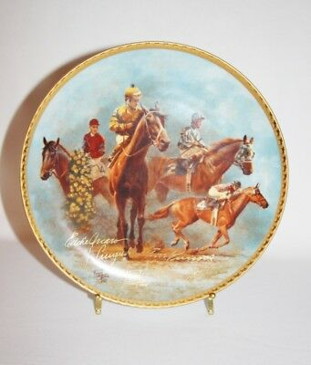 Artist FRED STONE - The American Triple Crown 1948-1978 Plate w/ COA - 70/2500