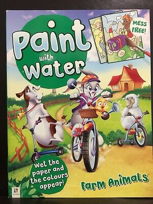 New - Paint With Water - Farm Animals - Great Fun For The Children