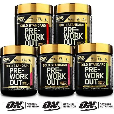 Optimum Nutrition ON Gold Standard Pre Workout 330g Amino BCAA All Flavours