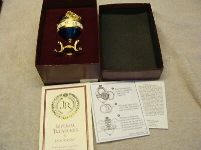Imperial Treasures Timepiece Egg Joan Rivers W/  BOX PAPERS