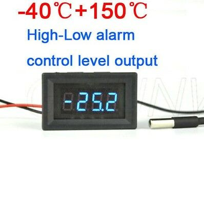 Thermometer digital LED temperature controller High-Low Alarm control 12V CAR