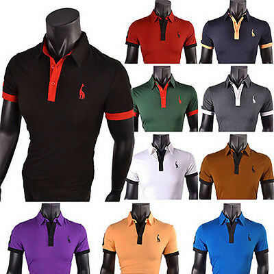 UK Mens Work Smart Short/Long Sleeve Shirt Casual Polo T- Shirts Slim Fit Top