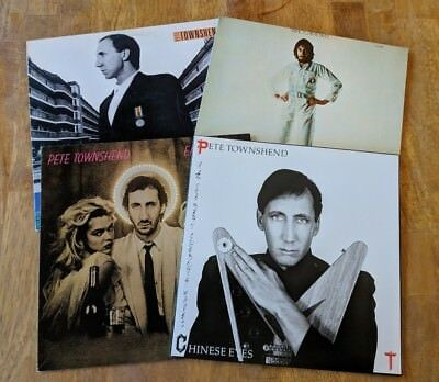 Pete Townshend 4 Vinyl Record LP Lot Chinese Eyes White City Empty Glass Who Cam