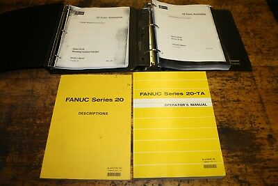 Fanuc 20-TA CNC Manuals, Lot of 4 B-62172E B62204E