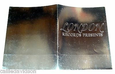 LONDON RECORDS Empty Silver Foil Press Kit Folder Genesis ZZ Top Moody Blues