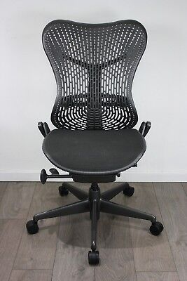 UK & EU Delivery   Herman Miller Mirra Chairs   Graphite Grey   Without armrests