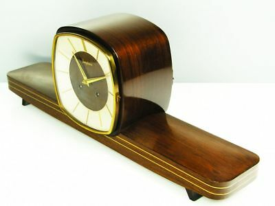 Art Deco Design Chiming Mantel Clock From Junghans From 50 ´s With