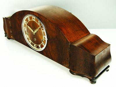 Art Deco Westminster  Chiming Mantel Clock Kienzle  With Pendulum