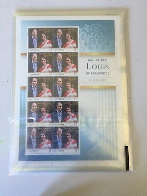 200 MUH Australia $1.00 Postage Stamps Mint face value $200 Birth Of A Prince