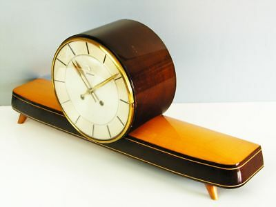 Art Deco Design Chiming Mantel Clock From Junghans From 50 ´s
