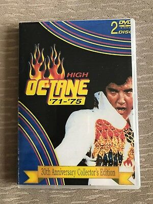 Elvis DVD High Octane '71-'75 Rare 2 disc set Elvis on stage rare jumpsuits film