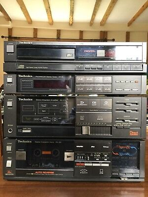 Technics Vintage 1980'S Stack System Fab. Condition.