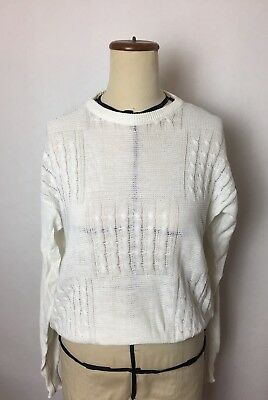 Vintage Cacharel White Knit Size S/M