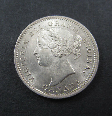 1901 Canada ten cents 10c in good a/uncirculated condition. Strong detail lustre