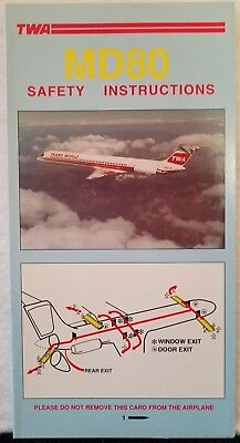Trans World Airlines Twa - Safety Card - Md80 Pn4932 10-94