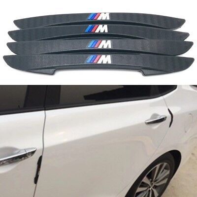 4pc BMW M Power Sport Logo Anti-collision Door Side Protection Rubber