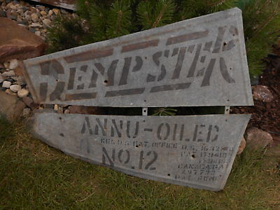 Dempster No 12 Windmill TAIL ADVERTISING Galvanized Beatrice NE Nebraska Farm