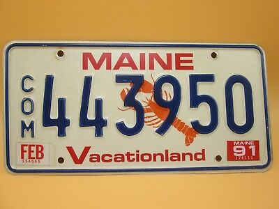 Maine Lobster Commerical License Plate  443950