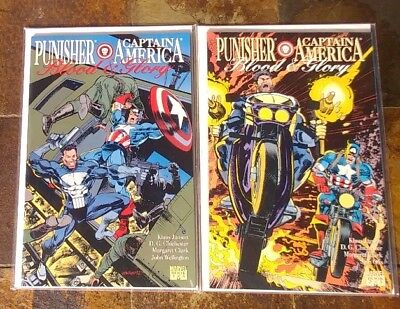 Punisher Captain America Blood And Glory #1 #2