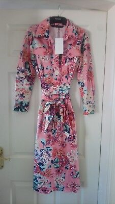 Zara Floral Print Shirt Dress Current Season SOLD OUT Size XS