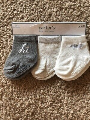Carter's 3 Pairs Of Socks 0-3 Months Free Shipping