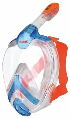Schnorchelmaske Vollgesichtsmaske UNICA S/M clear-blue-orange Seac Sub