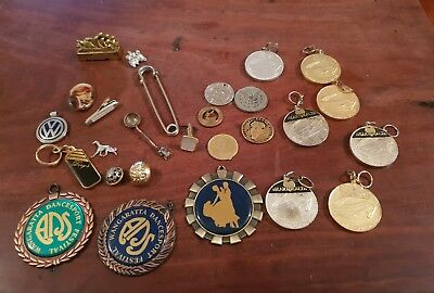 Medallions coins and various