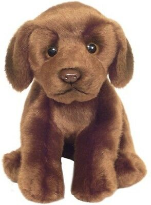 "Faithful Friends Labrador Chocolate/Brown 12"" Soft Toy Dog"