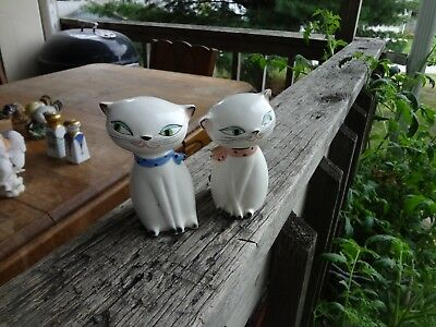 VINTAGE 50s HOLT HOWARD COZY KITTEN SALT & PEPPER SHAKERS ORIGINAL LABELS & TAG