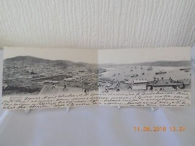 "Russian Imperial Folding Letter / Ppc ""city View Vladivostok"" Russia  Used 1902"
