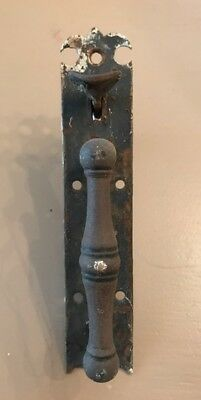 Antique Salvaged Primitive19th Century Norfolk Thumb Latch Handle Old Paint