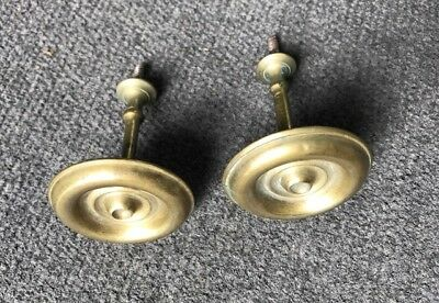 Pair Antique 19th Century Brass Curtain Tie Backs Empire Late Federal