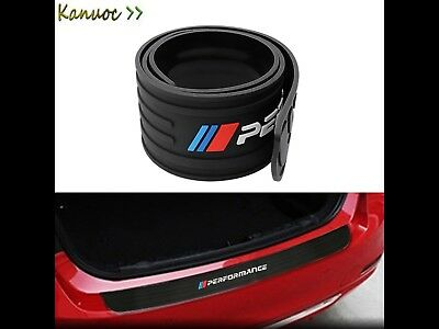 BMW M SERIES Performance Rubber Bumper Protection Sticker Black - 35.4x2.9inches