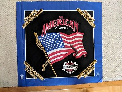 22 Inch By 22 Inch Harley Davidson Cotton/Polyester Bandanna Material-Brand New