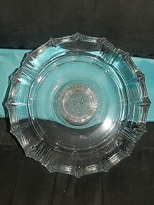 Vtg Fostoria Glass Ashtray House of Representatives Embossed Crest Heavy Cigar
