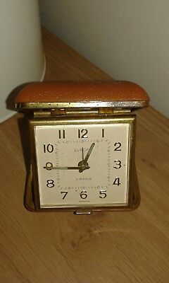EUROPA 2 Jewels Vintage Travel Alarm Clock Germany working